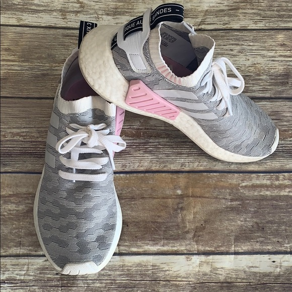the latest 24a54 c89a3 NMD Grey & pink camo texture shoes